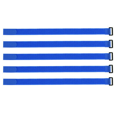 10pcs Hook and Loop Straps, 1-inch x 20-inch Securing Straps Cable Tie (Blue)