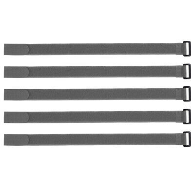 5pcs Hook and Loop Straps, 1-inch x 18-inch Securing Straps Cable Tie (Gray)