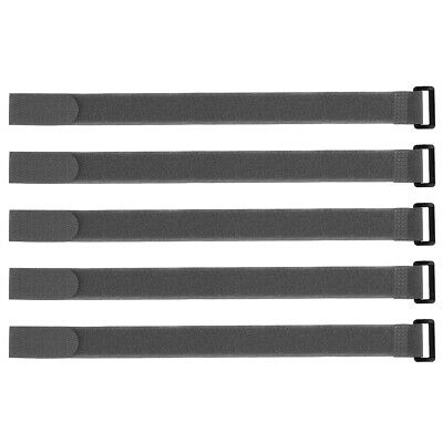 5pcs Hook and Loop Straps, 1-inch x 16-inch Securing Straps Cable Tie (Gray)