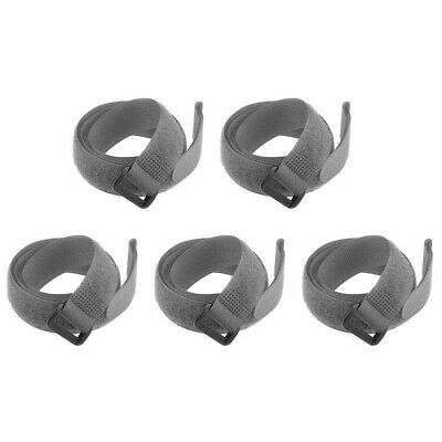 5pcs Hook and Loop Straps, 3/4-inch x 22-inch Securing Straps Cable Tie (Gray)