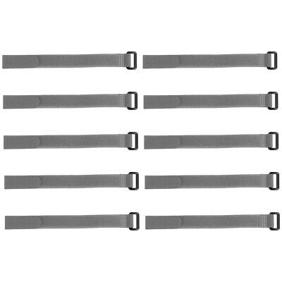 10pcs Hook and Loop Straps, 3/4-inch x 20-inch Securing Straps Cable Tie (Gray)