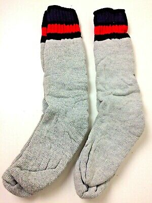 Deadstock Pair Vintage Men's Thermal Striped Tube Socks