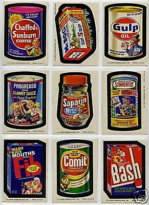 1974 Topps Wacky Packages 11th Series 11 Complete Sticker Card Set 30/30 NM-