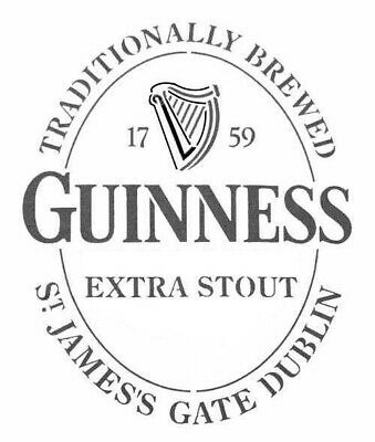 high detail airbrush stencil guinness ovali logo five   FREE UK POSTAGE
