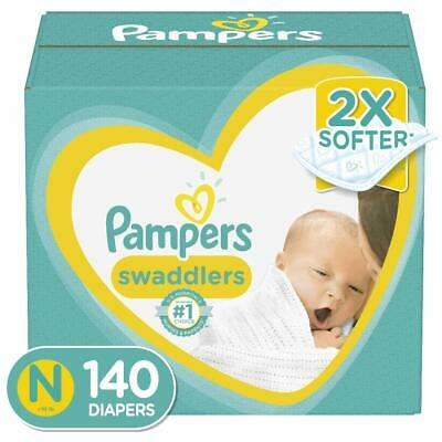Diapers Newborn / Size 0 (< 10 lb), 140 Count - Pampers Swaddlers Disposable