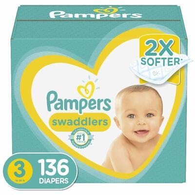 Diapers Size 3, 136 Count - Pampers Swaddlers Disposable Baby Diapers, Enormous