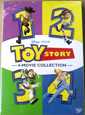 TOY STORY 1-4 4-Movie DVD Collection 4 Films Combo First Class Shipping