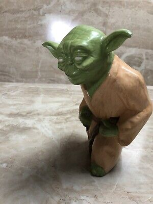 Vintage Yoda Figurine Ceramic See Pictures Star Wars