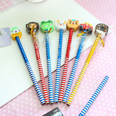 HB Craft Art Lead Pencils with Eraser Writing Sketching Drawing School