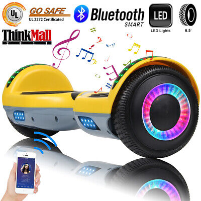 "6.5"" Hoverboard Bluetooth Electric Self Balance Scooter without Bag A12 Yellow"