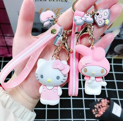 Hello Kitty Doll KT Cat Keychains Women Girls Charm Bags key chain Accessories