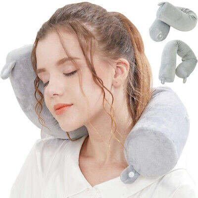 1Pc Memory Foam U Shaped Travel Pillow Neck Support Head Rest Airplane Cushion