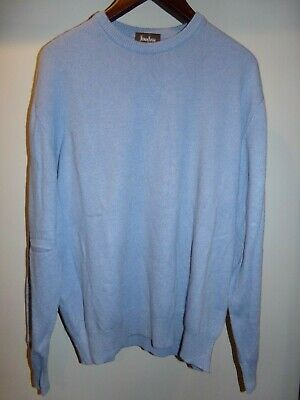 Neiman Marcus Exclusive Sky Blue Pure Cashmere Mock Neck Long Sleeve Sweater