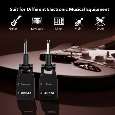 LEKATO WS-10 2.4G Wireless Electric Guitar Audio Systems Transmitter & Receiver
