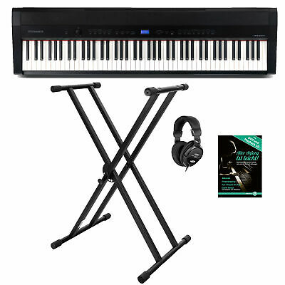 88-Tasten Digital Compact Piano Stage Set Layer Split Twinova Stagepiano Schwarz