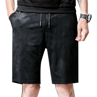 MEN SUMMER FITNESS DRAWSTRING MESH SHORTS FIFTH PANTS WITH POCKETS SUPREME