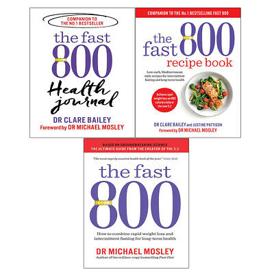 Fast 800 Diet Recipe, Fast 800 Health Journal, Fast 800 3 Books Collections Set