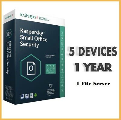Kaspersky Small Office Security V6 2020 | 5 Device + 1 Server | 1 Year  | GLOBAL