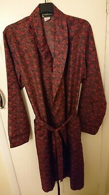 Mens Vintage Stephen Powers Paisley Print Dressing Gown Smoking Jacket Size L