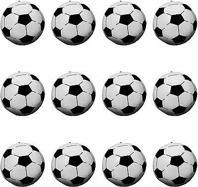 """24 INFLATABLE SOCCER BEACH BALLS 9/"""" Blow Up White World Cup #AA45 Free Shipping"""
