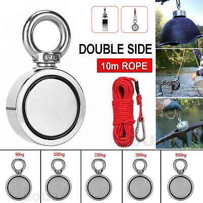 200/300/500kg Double Sided Round Recovery Salvage Neodymium Fishing Magnet