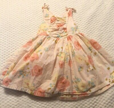 New Cherokee Toddler Girls Cap Sleeve Floral Dress Paradise Pink Size 3T//4T//5T