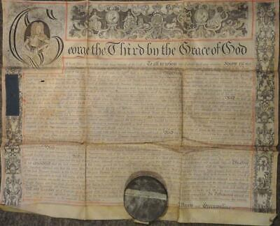 George III Land Indenture MIDDLESEX Illustrated Vellum With Great Seal 1780