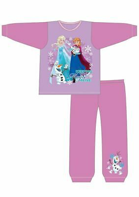 Disney Frozen Pyjamas | Girls Anna & Elsa PJs | Kids Long Pyjama Set | Toddler