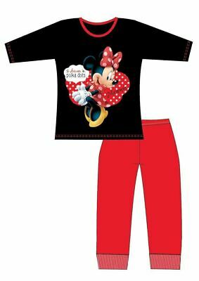 Minnie Mouse Pyjamas | Kids Minnie Mouse PJs | Girls Disney Cartoon Pyjama Set