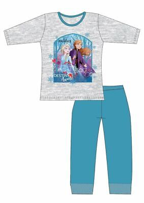 Disney Frozen 2 Pyjamas | Girls Anna & Elsa PJs | Kids Princess Pyjama Set