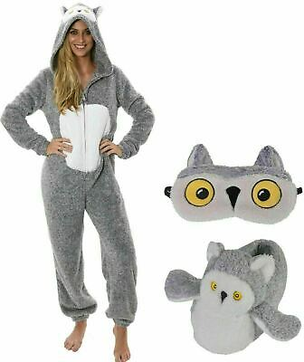 Super Comfortable Snowy Owl All In One Bodysuit Sleepsuit Onezee or Slippers