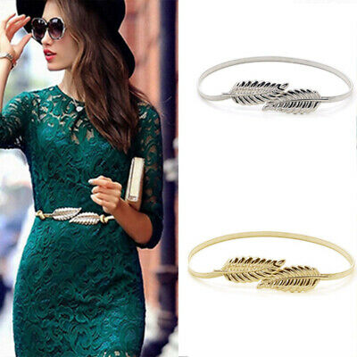 Stretch Elastic Leaves Waistband Waist Cummerbund Belt Strap Women Fashion