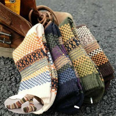 4 pair Wool Cashmere Men's Socks Casual Warm Winter Blend Pairs Dress Thick