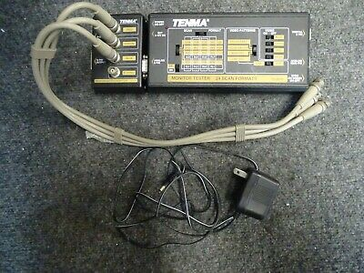 Tenma 24 Scan Format Monitor Tester Model 72-2070 w/ Monitor Output Adaptor