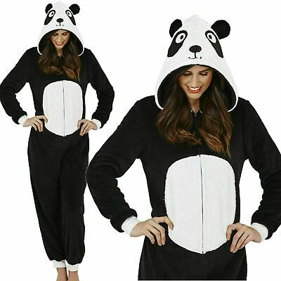 Supersoft and Cuddly Womens Panda All in One Onezee Sleepsuit, UK 6-20