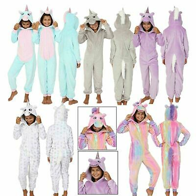 Kids Teenagers Girls Unicorn All in One Onezee with 3D Horn/Mane, Ages 7-16