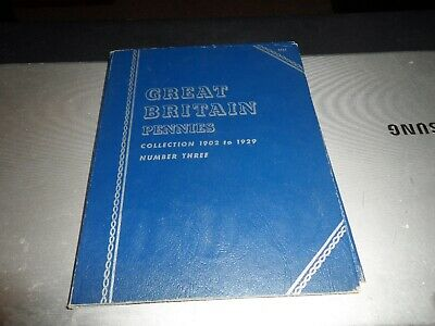 GB Penny 22 Coin Collection no.3  1902 - 1929  in a  Whitman Folder