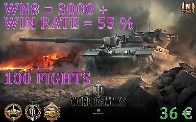 World of Tanks 3000+ wn8 55%+ / 100 fights / TOP Boost WOT / Fast and Save
