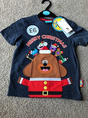 Tu Clothing Hey Duggee Squirrels Christmas T-shirt Cbeebies Happy Betty 18-24 M