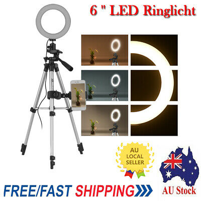 "6"" LED Ring Light with Tripod Stand for Youtube Tiktok Makeup Video Live K9U8"