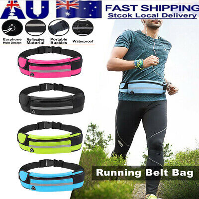 Waterproof Sports Running Bum Bag Fanny Pack Waist Belt Money Wallet Zip Pouch