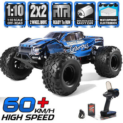HSP Brushless Motor RC Car 1/10 2WD Off Road Monster Truck Lipo Battery RC Truck