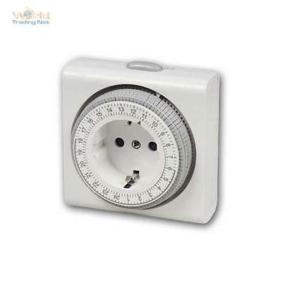 Timer Compact, Analogue, Time Clock, Timer Mechanical 3680W Socket 24h