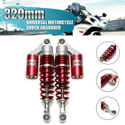 "12.5"" 320mm Gas Shock Absorber Suspension For Motorcycle Scooter ATV Quad Red UK"