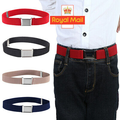 Boys Kids Adjustable Elastic Child Silver Alloy Buckle Snake Belts Toddler Gift