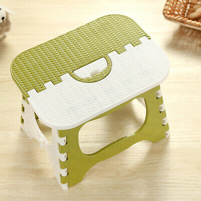 Plastic Collapsible Step Stool Portable Home Fishing Multi-purpose Green