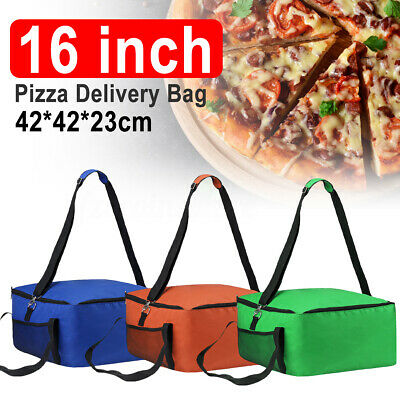 16'' Pizza Hot Food Delivery Bag Insulated Thermal Storage Holder Outdoor Picnic