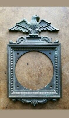 Vtg Antique NLCO Brass Switch Plate Eagle Light Switch Plate Bell Door NC