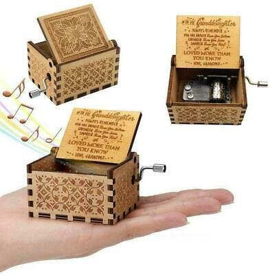 Wooden Music Box Grandma For Granddaughter -You Are Sunshine My Gifts Engra K7I0