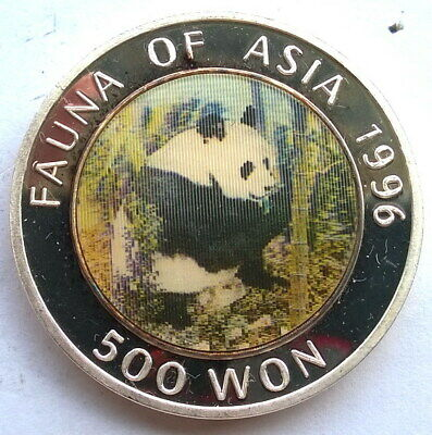 Korea 1996 Panda 500 Won 1oz Silver Coin,Proof